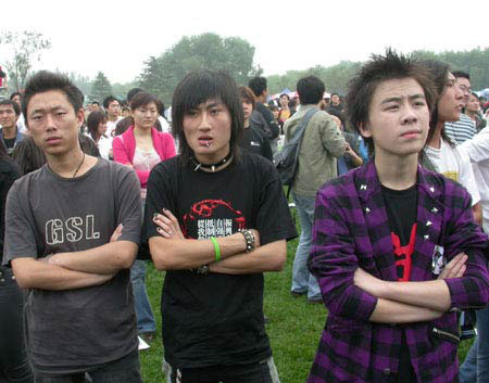 Chinese punks at Beijing Midi Festival