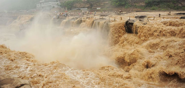yellow-river pictures of floods in China